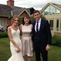 Liz Hendry with Mr and Mrs Hill at colshaw Hall