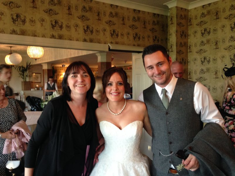 Liz Hendry with Mr and Mrs Gomerson at Shireburn arms