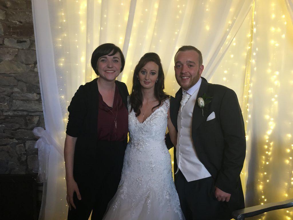 Liz Hendry Wedding pianist with Mr & Mrs Eccleston at Park Hall, Lancashire