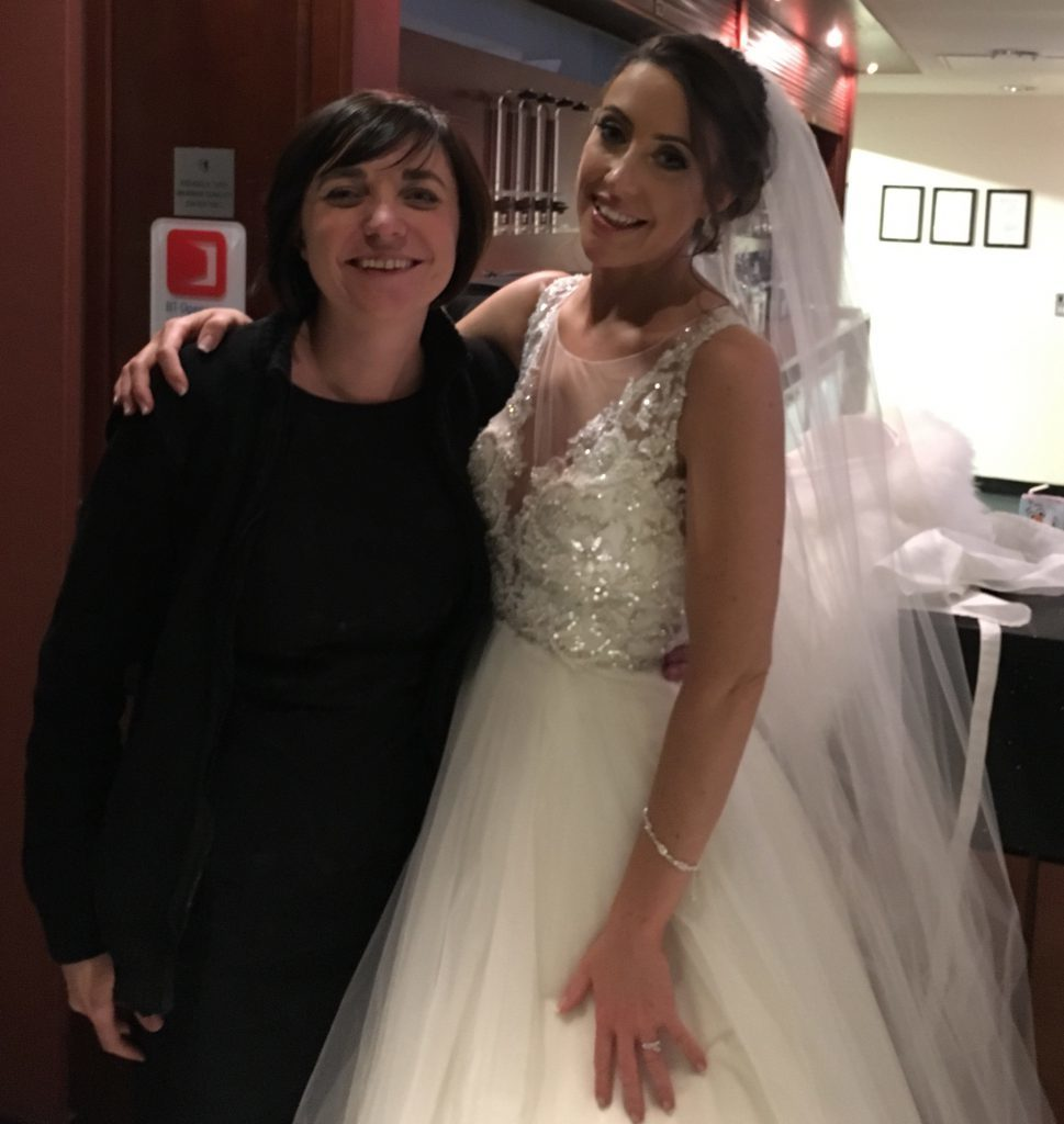 Liz Hendry with Jade, the beautiful bride