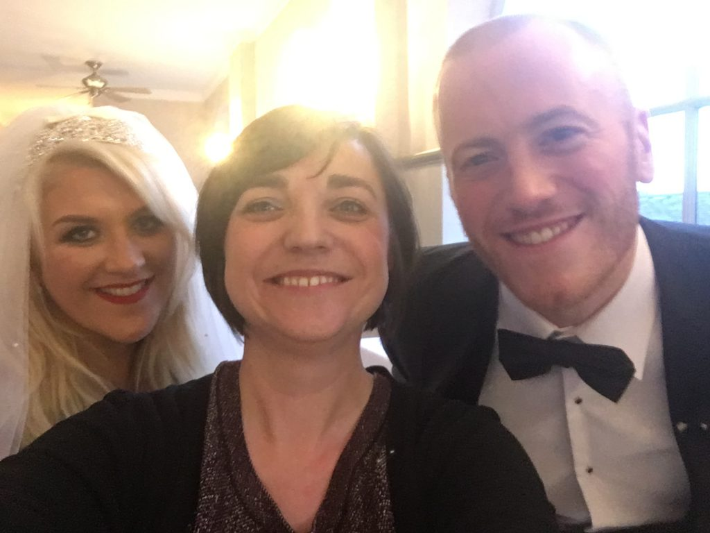 Liz Hendry Wedding Pianist with Liz and Chris Redfern on their wedding day.